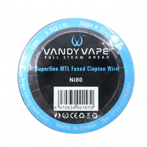 Fil résistif Superfine MTL Fused Clapton - Vandy Vape